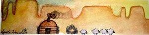 AM Herd Out Navajo Art by Lajasta Wauneka