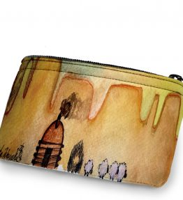 """AM Herd Out"" Navajo Art on a Coin Purse"