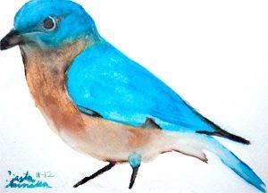 Blue Bird Navajo Art by Lajasta Wauneka