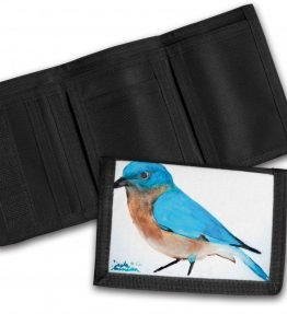 """Blue Bird"" Navajo Art on a Tri-Fold Wallet"