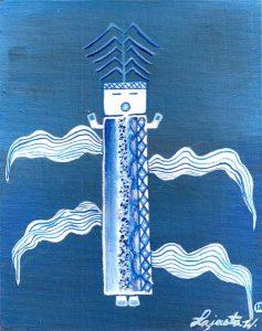 Blue Corn Navajo Art by Lajasta Wauneka