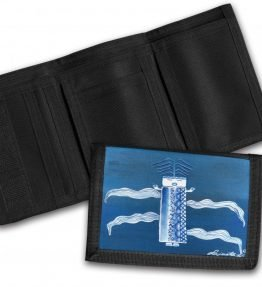 """Blue Corn"" Navajo Art on a Tri-Fold Wallet"
