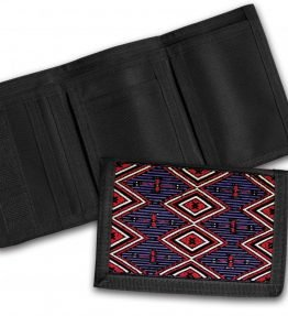 Navajo Chief's Rug Design on a Tri-Fold Wallet