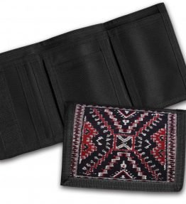 Navajo Crystal Rug Design on a Tri-Fold Wallet