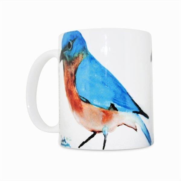 Blue Bird Navajo Art by Lajasta Wauneka 11 Oz Mug (Right Side)