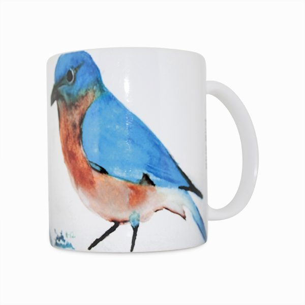 Blue Bird Navajo Art by Lajasta Wauneka 11 Oz Mug (Left Side)