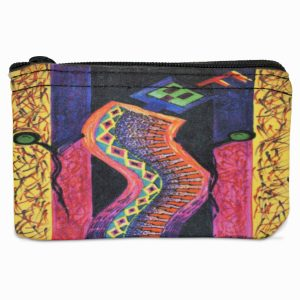 Enthusiastic Dancer Navajo Art on Coin Purse