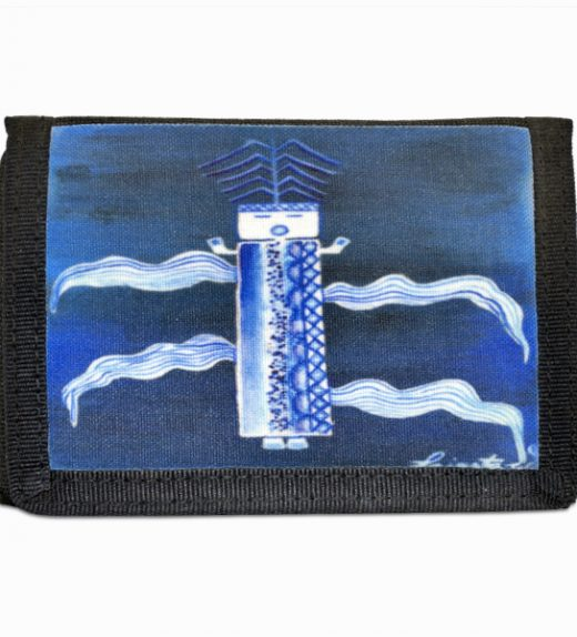 Blue Corn Navajo Art on Tri-Fold Wallet