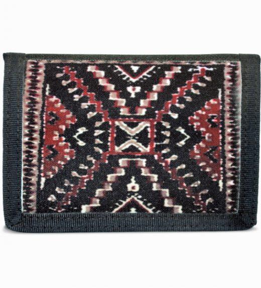 Crystal Rug Design on Tri-Fold Wallet