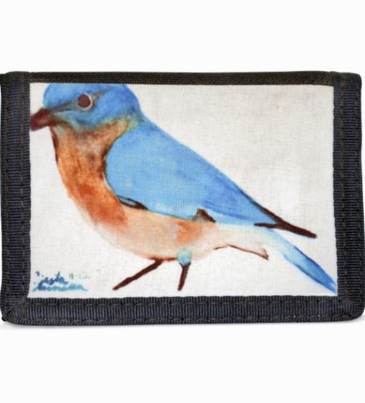 Blue Bird Navajo Art on Tri-Fold Wallet