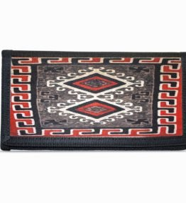 Ganado Red Navajo Rug Design on Bi-Fold Wallet