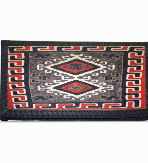 Ganado Red Navajo Rug Design on Bi-Fold Wallet