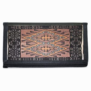 Klagetoh Navajo Rug Design on Bi-Fold Wallet