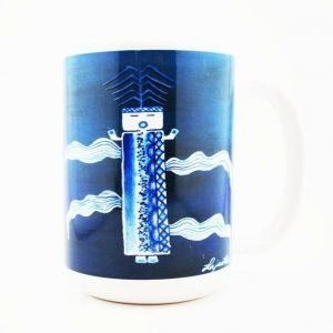 """Blue Corn"" Navajo Art on a 15 Oz Classic Mug"