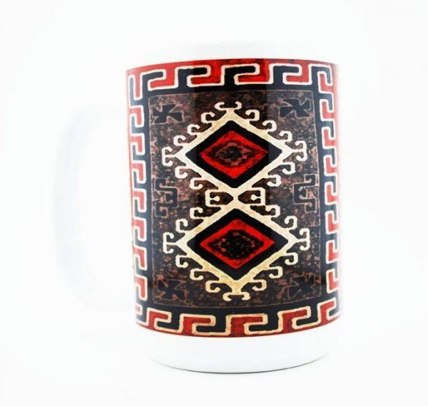 1930's Navajo Ganado Red Rug Design on a 15 oz Classic Mug