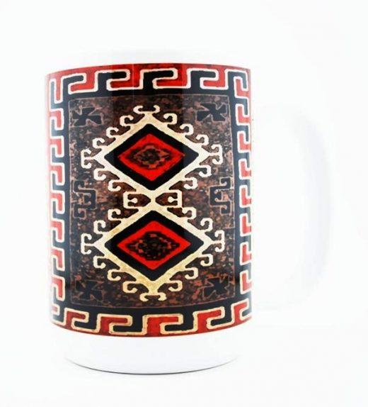 1930's Navajo Ganado Red Rug Design on a 15 oz Classic Mug