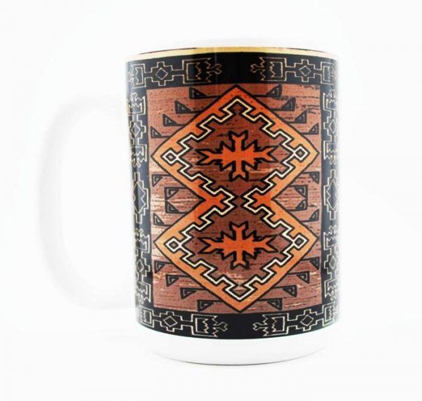 Klagetoh Navajo Rug Design 15 Oz Mug (Left Side)