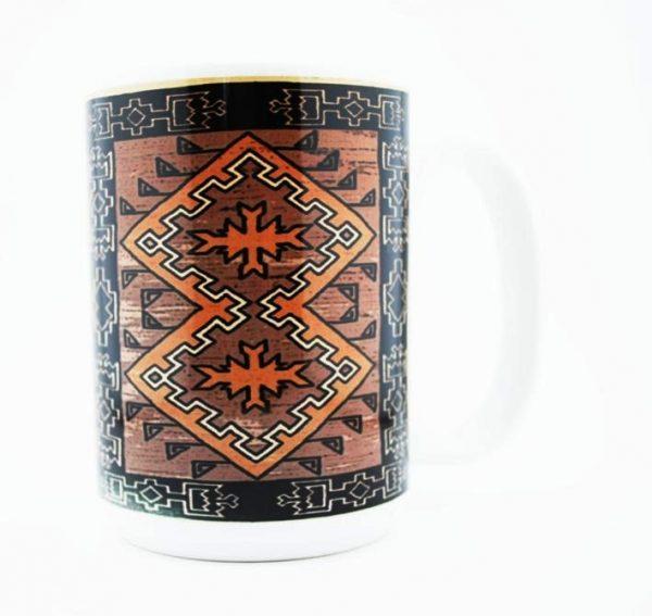 Klagetoh Navajo Rug Design 15 Oz Mug (Right Side)