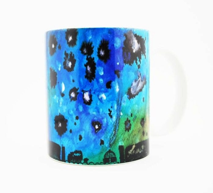 """Navajo Milky Way"" Navajo Art on a 15 Oz Classic Mug"