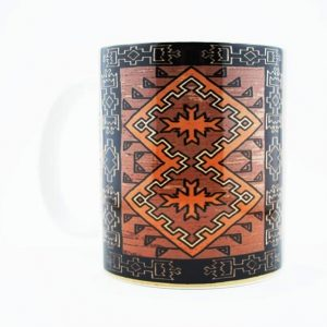 Navajo Klagetoh Rug Design on a 11 Oz Classic Mug (Left Side)