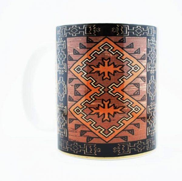 Navajo Klagetoh Rug Design on a 11 Oz Classic Mug (Left Side)
