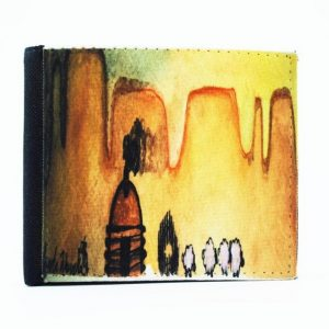 """AM Herd Out"" Navajo Art on a Bi-Fold Wallet"