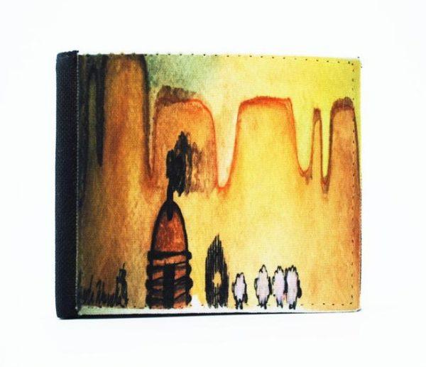 """""""AM Herd Out"""" Navajo Art on a Bi-Fold Wallet"""