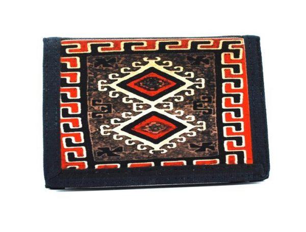 Navajo Ganado Red Rug Design on a Tri-Fold Wallet