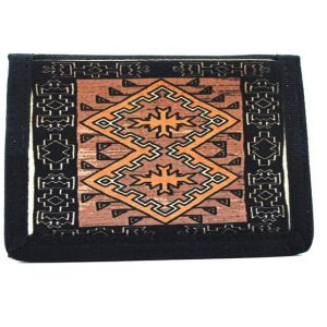 Navajo Klagetoh Rug Design on a Bi-Fold Wallet