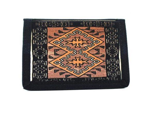 Navajo Klagetoh Rug Design on a Bi-Fold Wallet