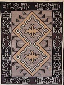 1920's Klagetoh Rug Design Navajo Art by Lajasta Wauneka