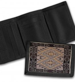 Navajo Klagetoh Rug Design on a Tri-Fold Wallet