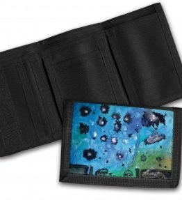 """Navajo Milky Way"" Navajo Art on a Tri-Fold Wallet"