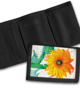 """Sun Flower"" Navajo Art on a Tri-Fold Wallet"