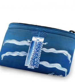 Blue Coin Artwork on Coin Purse