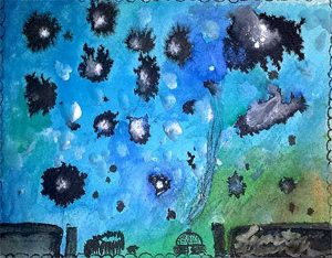 Navajo Milky Way Navajo Art by Lajasta Wauneka