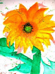 Sun Flower Navajo Art by Lajasta Wauneka