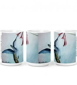 """Bearer of Good News"" Navajo Art on 15 Ounce White Coffee Mug"