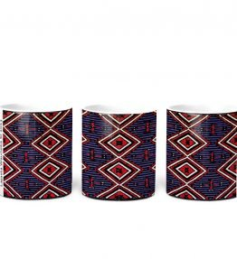 """Chiefs Rug"" Navajo Art on 11 Ounce White Coffee Mug"