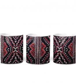 """Crystal Rug"" Navajo Art on 11 Ounce White Coffee Mug"
