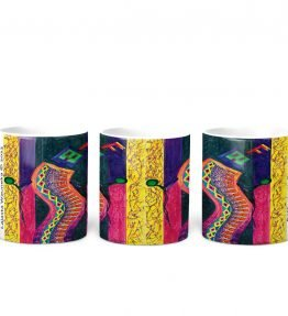 """Enthusiastic Dancer"" Navajo Art on 11 Ounce White Coffee Mug"