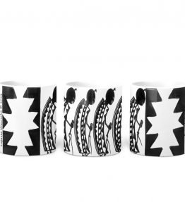 """Female Dancers"" Navajo Art on 11 Ounce White Coffee Mug"