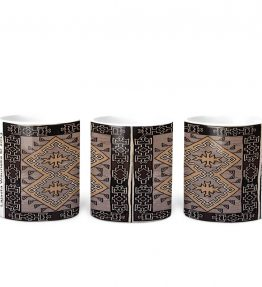"""Klagetoh Rug"" Navajo Art on 11 Ounce White Coffee Mug"