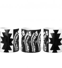 """Male Dancers"" Navajo Art on 11 Ounce White Coffee Mug"