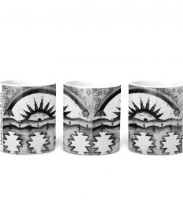 """Morning Blessings"" Navajo Art on 11 Ounce White Coffee Mug"