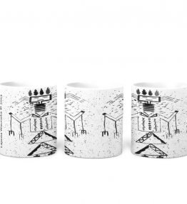 """Talking God"" Navajo Art on 11 Ounce White Coffee Mug"
