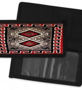 Navajo Ganado Rug Design on a Checkbook Cover