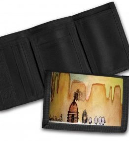 """AM Herd Out"" Navajo Art on a Tri-Fold Wallet"