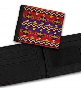 Tribal-Pattern-10-Bill-Fold-Wallet