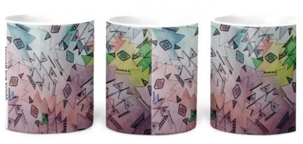navajo indian art on coffee mugs